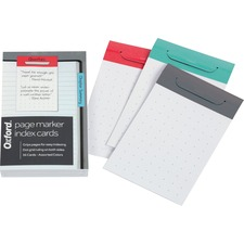 OXF 334301M Oxford Page Marker Index Cards OXF334301M