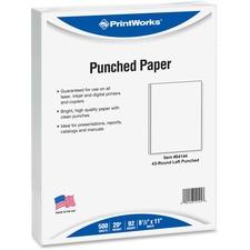 PRB 04144 Paris Bus. Prod. Printworks 20 lb Punched Paper PRB04144