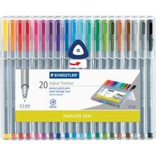 Staedtler Triplus Fineliner Marker Pen - Fine Pen Point - 0.3 mm Pen Point SizeWater Based Ink - 1 / Set