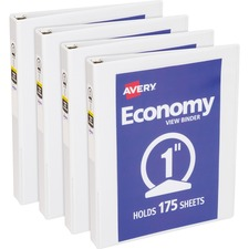 AVE05711BD - Avery&reg Round Ring Economy View Binder
