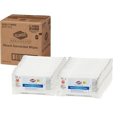 CLO 31469CT Clorox Healthcare Bleach Germicidal Wipes CLO31469CT