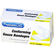 "FAO 51018 First Aid Only PhysiciansCare 4"" Conforming Gauze FAO51018"