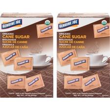 GJO 70470CT Genuine Joe Turbinado Natural Cane Sugar Packets GJO70470CT