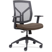LLR83111A200 - Lorell Mid-Back Chairs wth Mesh Back & Fabric Seat