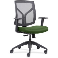 LLR83111A201 - Lorell Mid-Back Chairs wth Mesh Back & Fabric Seat