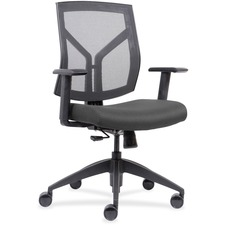 LLR83111A202 - Lorell Mid-Back Chairs wth Mesh Back & Fabric Seat