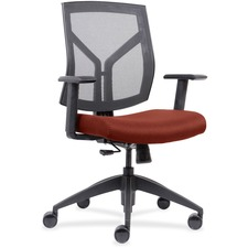 LLR 83111A203 Lorell Mesh Back/Fabric Seat Mid-Back Task Chair LLR83111A203