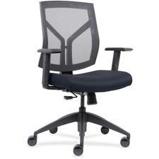 LLR 83111A204 Lorell Mesh Back/Fabric Seat Mid-Back Task Chair LLR83111A204
