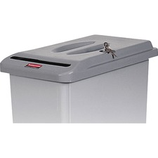 RCP 9W1600LGY Rubbermaid Comm. Confidential Doc Container Lid RCP9W1600LGY