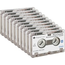 SPR 51045BX Sparco 45-min Dictating Micro Cassette SPR51045BX
