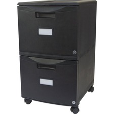 STX 61312U01C Storex Ind. 2-Drawer Locking Mobile Filing Cabinet STX61312U01C