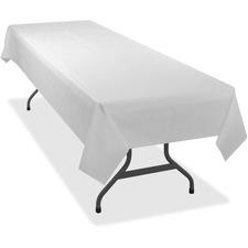 TBL 549WHCT Tablemate Heavy-duty Plastic Table Covers TBL549WHCT