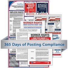 TFP CRPS03 TFP Data Sys. Fed Contractors Labor Law Poster TFPCRPS03