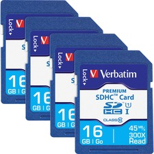 VER 96808BX Verbatim Premium SDHC Cards VER96808BX