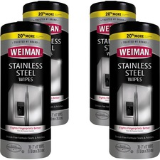 WMN 92CT Weiman Products Stainless Steel Wipes WMN92CT