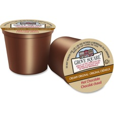 TreeHouse Single Cup Hot Chocolate - Hot Chocolate, Cream Flavor - K-Cup - 24 / Box