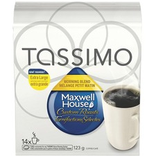 Maxwell House Elco Tassimo Pods Blend Coffee Singles - Compatible with Tassimo Brewer - Arabica, House Blend - Medium - 14 / Pack