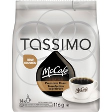 McCafé Tassimo Premium Roast Coffee Pods Pod - Arabica, Rich Aroma - 4.1 oz - 14 / Bag