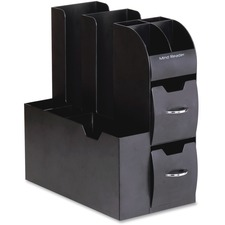 """Mind Reader All In One Coffee Pod Caddy - 11"""" Height x 5.4"""" Width x 12.6"""" Depth - Black, Chrome Handle - 1Each"""