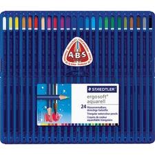 Staedtler Ergosoft Watercolour Pencil Set - 3 mm Lead Diameter - 24 / Set