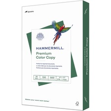 """Hammermill Color Copy Paper - Ledger/Tabloid - 11"""" x 17"""" - 28 lb Basis Weight - 0% Recycled Content - 100 Brightness - 500 / Ream - White"""