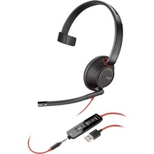 Plantronics Blackwire 5200 Series USB Headset - Mono - USB Type A, Mini-phone (3.5mm) - Wired - Over-the-head - Monaural - Supra-aural