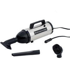 MetroVac 12V Evolution Hand Vac AM4SB - 140 W Motor - Bagged - Nozzle, Dusting Brush, Crevice Tool - 10 ft Cable Length - AC Supply - 12 V DC, 120 V AC - 12 A - Satin Nickel, Black