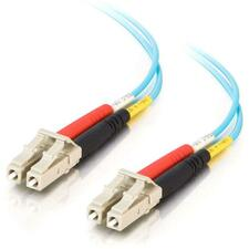 2m LC-LC 10Gb 50/125 OM3 Duplex Multimode PVC Fiber Optic Cable - Aqua