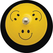 "ASH 10526 Ashley Prod. Smiley Face Design 3"" Base Hand Bell ASH10526"