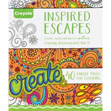 CYO 040122 Crayola Inspired Escapes Coloring Book CYO040122