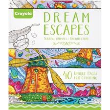 CYO 040123 Crayola Dream Escapes Coloring Book CYO040123