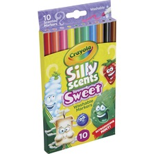 CYO 585071 Crayola Silly Scents Slim Scented Washable Markers CYO585071