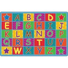 FCI FE33422A Flagship Carpets Cheerful Alphabet Classroom Rug FCIFE33422A