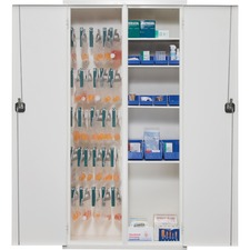 FIR 72MSCRWT FireKing Key Lock Medical Storage Cabinet FIR72MSCRWT