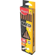 HLX 854721 Helix Maped Jumbo Triangular No. 2 Pencils HLX854721