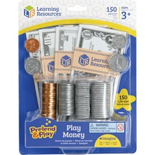 LRN LER2725 Learning Res. Pretend & Play Set Play Money LRNLER2725