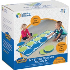 LRN LER6651 Learning Res. 10-frame Floor Mat Activity Set LRNLER6651