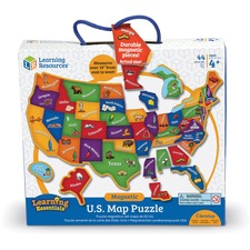 LRN LER7714 Learning Res. Magnetic US Map Puzzle LRNLER7714