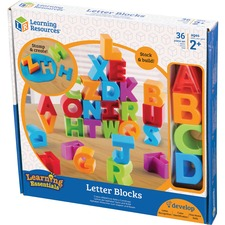 LRN LER7718 Learning Res. Ages 2+ Letter Blocks LRNLER7718