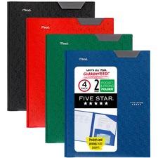 MEA 38048 Mead Five Star Stay-put Tabs Pocket Folder MEA38048