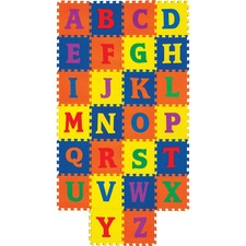 PAC AC4353 Pacon WonderFoam Alphabet Carpet Tiles PACAC4353