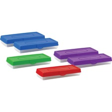 STX 61646U06C Storex Ind. Snap Lid Stretch Long Pencil Box STX61646U06C