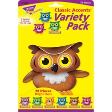 TEP 10652 Trend Class Accents Bright Owls Variety Pack TEP10652