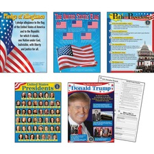 TEP 38958 Trend U.S. Presidents Learning Charts Combo Pack TEP38958