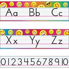 TEP 8288 Trend Emoji Alphabet Line Standard Bulletin Set TEP8288