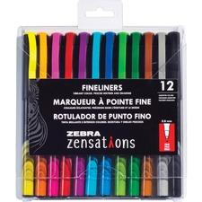 ZEB 09012 Zebra Zensations Fineliner Pens ZEB09012