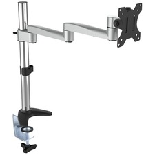"""Horizon ActivErgo AES15 Mounting Arm for Monitor - Silver, Black - 1 Display(s) Supported27"""" Screen Support - 8 kg Load Capacity - 75 x 75 VESA Standard - 1 Each"""