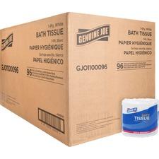 GJO1100096 - Genuine Joe 1-ply Bath Tissue