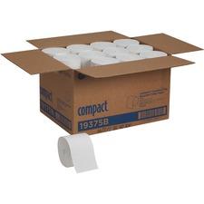 Compact Coreless Bath Tissue - 2 Ply - 1000 Sheets/Roll - White - Coreless - For Bathroom, Toilet - 36000 / Carton