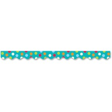 CTC 10381 Creative Teaching Press Dots on Turquoise Border CTC10381